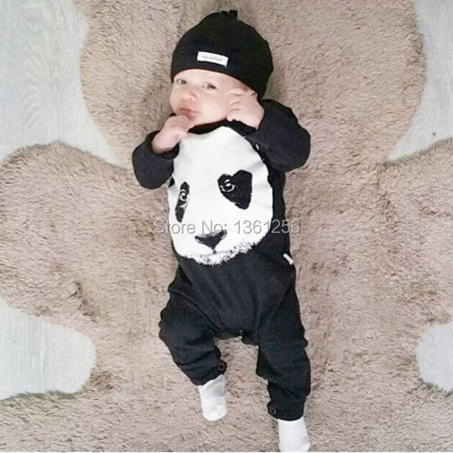2016 new style Baby Boy Clothes Hgih Quality Cotton panda Long Sleeve suit Kids Baby Boy Clothing Infant baby rompers jumpsuit(China (Mainland))