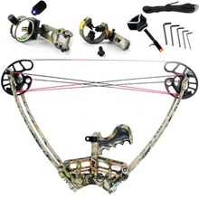 free shipping Camo/Black Bow Set,hunting ,Camouflage and Black Triangle Hunting  Arrow Set and  Compound Bow, Archery Set