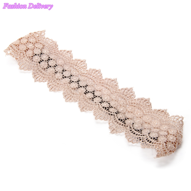 1pcs lot Fashion Lace Bandages For Head Elastic Hair Bands Gum For Hair Girls Turban Hair