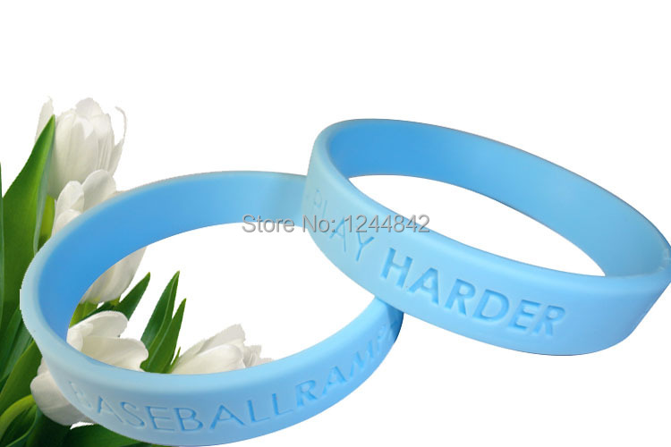 Custom Debossed silicone bracelet ,silicone rubber wristband,sports bands for gift or event 500pcs/lot, DHL Free shipping(China (Mainland))