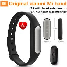 Official original Xiaomi Mi Band 1S 1A font b Smart b font Miband Heart Rate Monitor