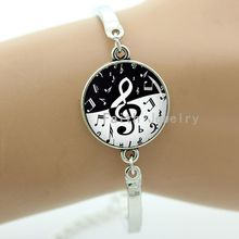 Stylish treble clef wave pattern bracelet, charming musical notes jewelry,best gifts to give best friends -1069(China (Mainland))
