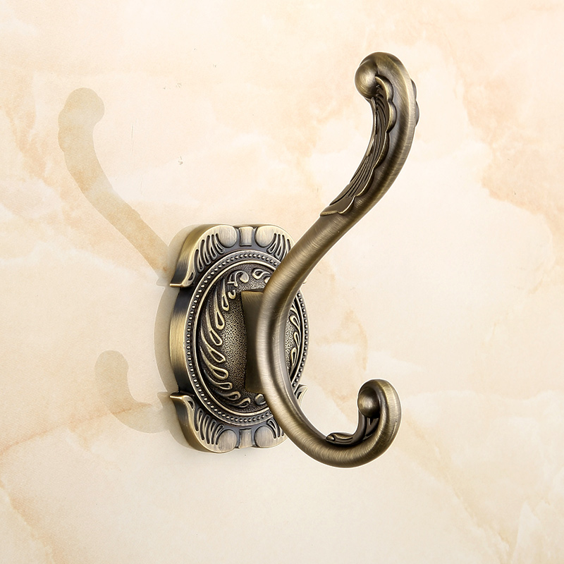 european antique bathroom hook toilet coat hook bronze brass bathroom accessories 1 3 rod hooks wall mounted robe hooks au7691 brass coat hook pieces