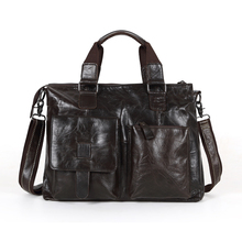 """Maxdo Promotion Coffee Vintage 100% Guarantee Real Genuine Leather Men Messenger Bags 14"""" Laptop Bag Cowhide Briefcase #MD-M260"""