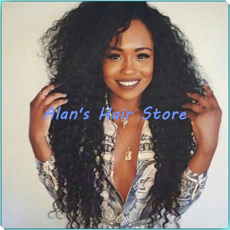 High Quality African American Wigs Synthetic High Temperature Fiber Afro kinky Curly Synthetic Lace Front wigs for Black Women(China (Mainland))