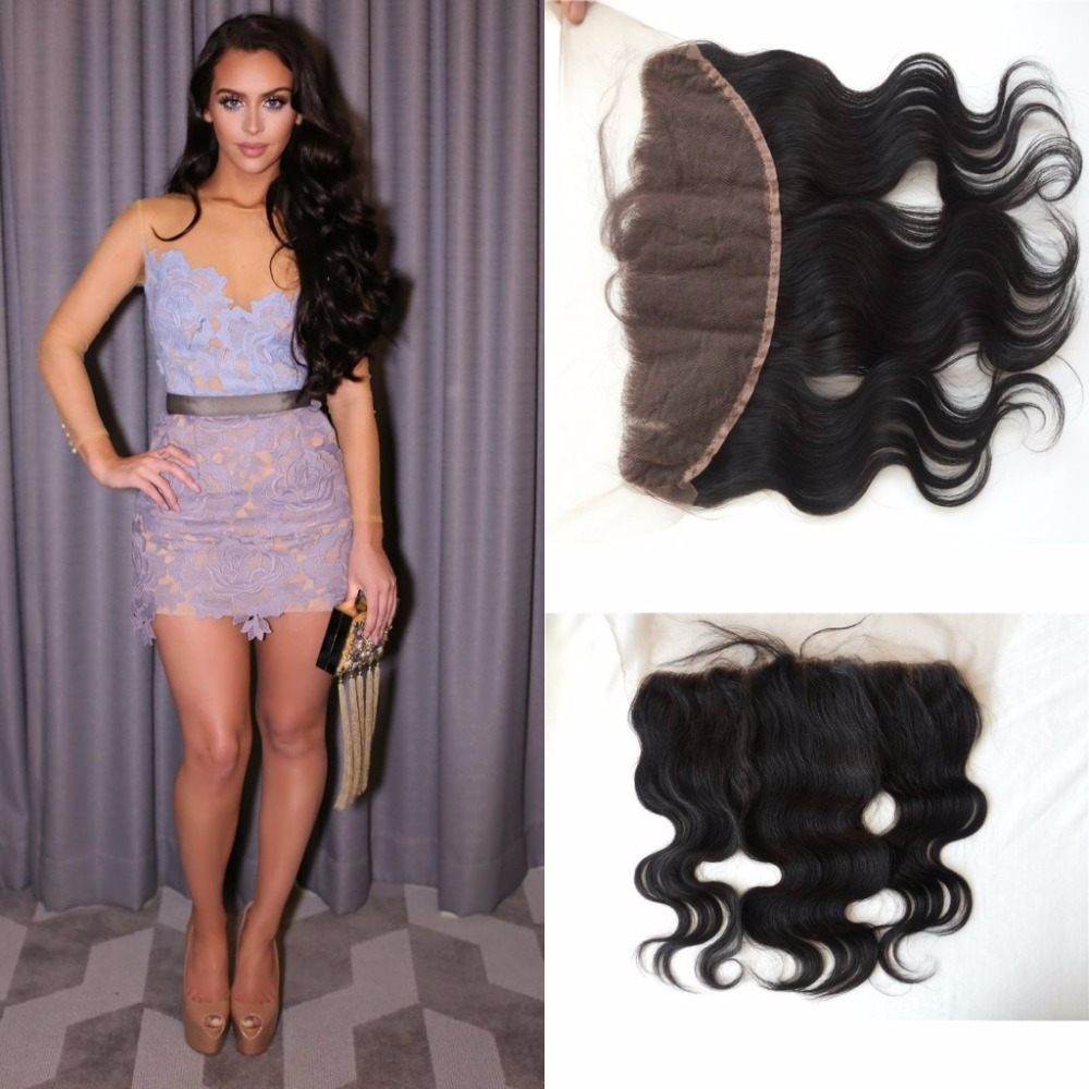 7A Indian lace frontal Closure In Stock! Virgin Hair Body Wave full frontal Closure indian Hair 8 -22 13x4 free/middle/ 3 part<br><br>Aliexpress