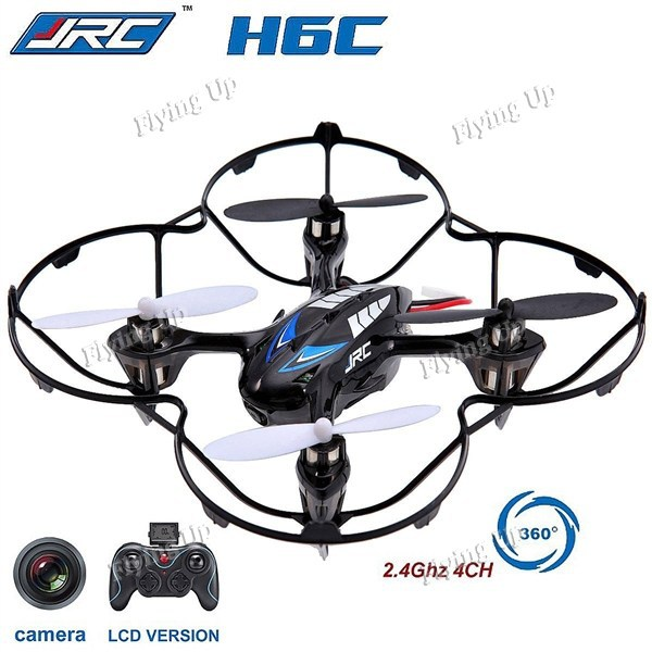2MP Camera Drones! JJRC H6C 4-CH 2.4GHz Remote Control Toys RC Quadcopter with 6-Axis Gyro RTF Micro Helicopter Free Shipping(China (Mainland))