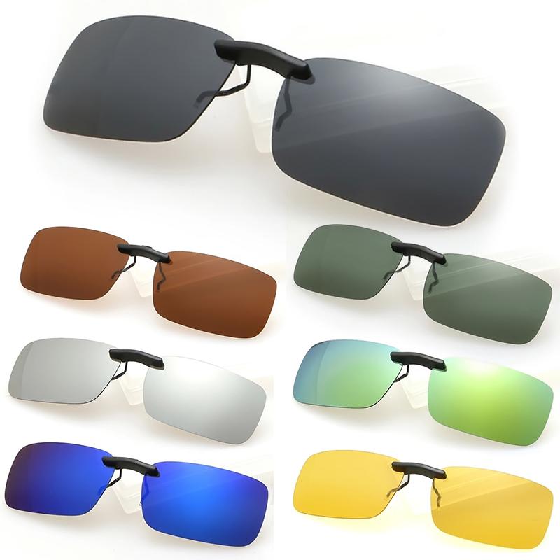OUTEYE 2016 Brand New Men Women Polarized Clip On Sunglasses Sun Glasses Driving Night Vision Lens Unisex Anti-UVA Anti-UVB W1(China (Mainland))