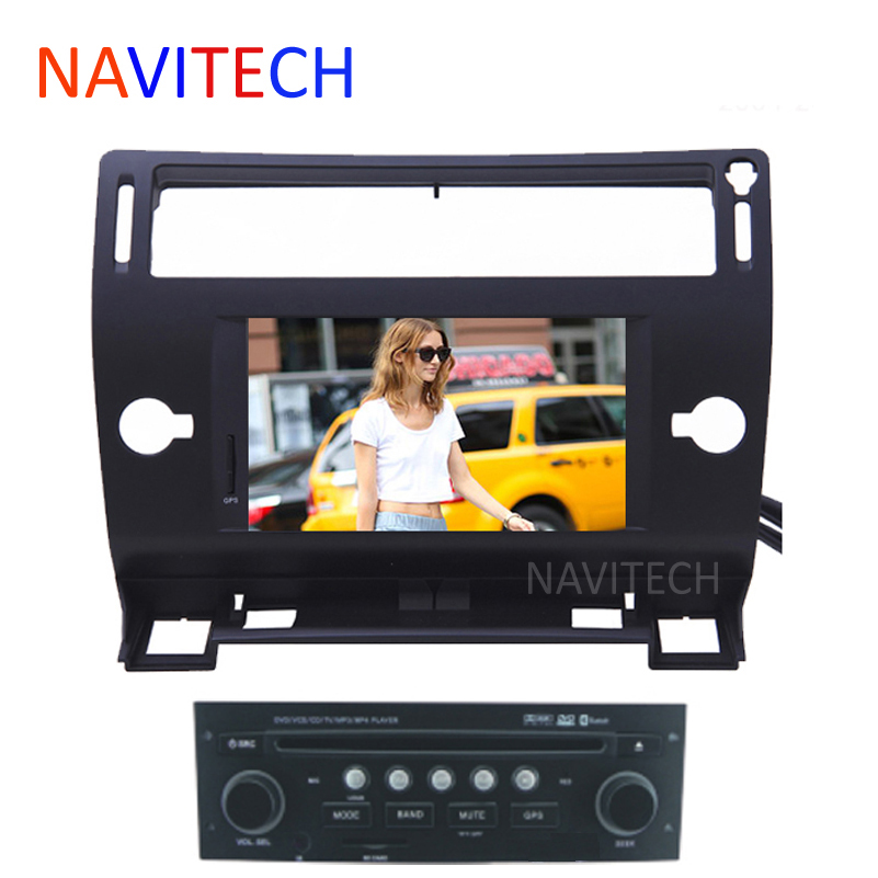 Black/siliver/grey color autoradio CITROEN C4 CAR DVD player GPS Navigation BLUETOOTH AUTO RADIO IPOD SWC 2004-2009-2012 - NAVITECH store