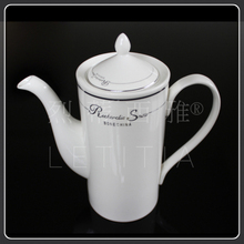 Aussie style fashion ceramic coffee cup and saucer pot bone china coffee set quality 15 platinum