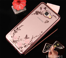 Flora Diamond Case Samsung Galaxy A3 A5 A7 2016 J3 J5 J7 S5 S6 S7 Edge Chic Flower Bling Soft TPU Clear Phone Back Cover - Shenzhen Ruihua Trading Company Co., Ltd store