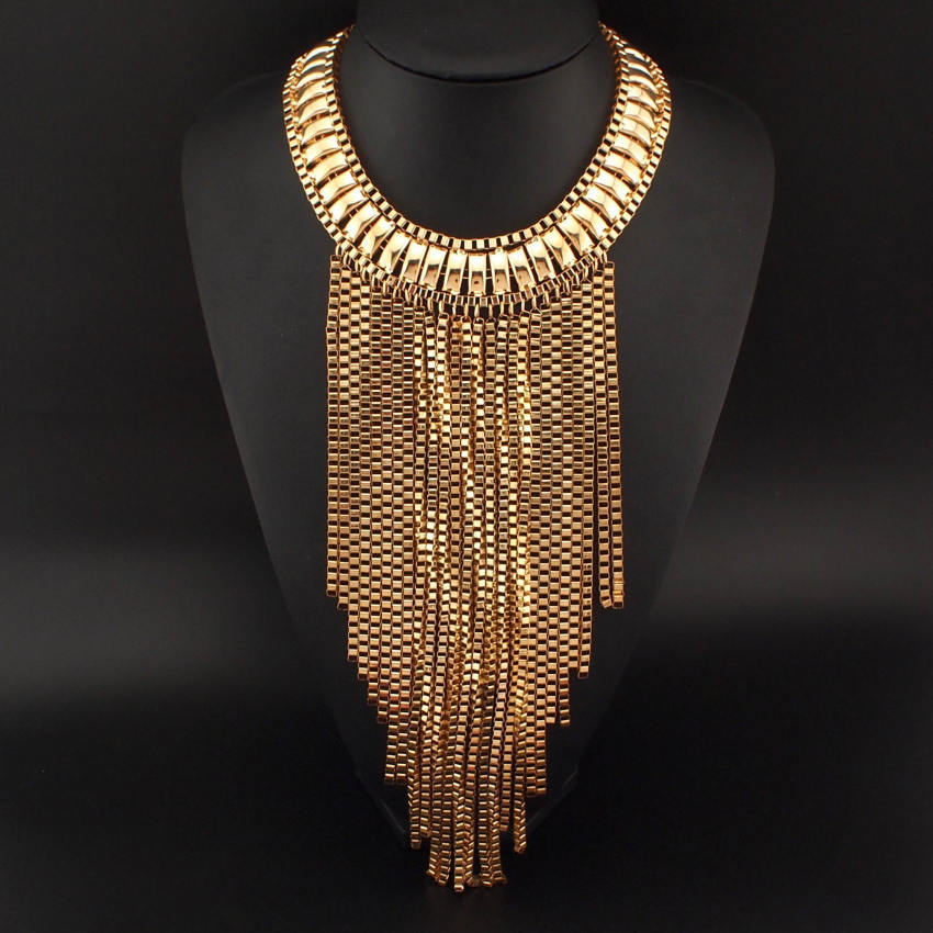 Fashion-Maxi-Tassels-Necklaces-Neck-Bib-Collar-Chunky ...