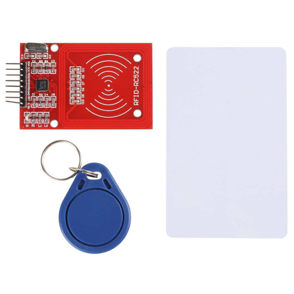 NEW MFRC-522 RC522 RFID IC Card Inductive Module with Card Key Chain(China (Mainland))