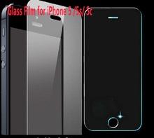 Hd protecteur d'écran en verre trempé pour Alppe iPhone 5 5S 5c haute qualité 0.3 mm Ultra mince téléphone Film livraison gratuite(China (Mainland))