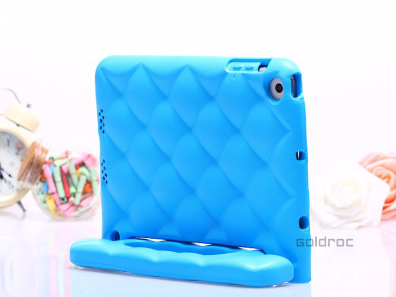 Free Shipping Child Kids Shock Proof Drop Resistance Thick Foam EVA TPU Cover Case Handle Stand For Apple iPad Mini(China (Mainland))