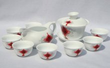 10pcs smart China Tea Set, Pottery Teaset,Chinese Knotting,A3TM21, Free Shipping