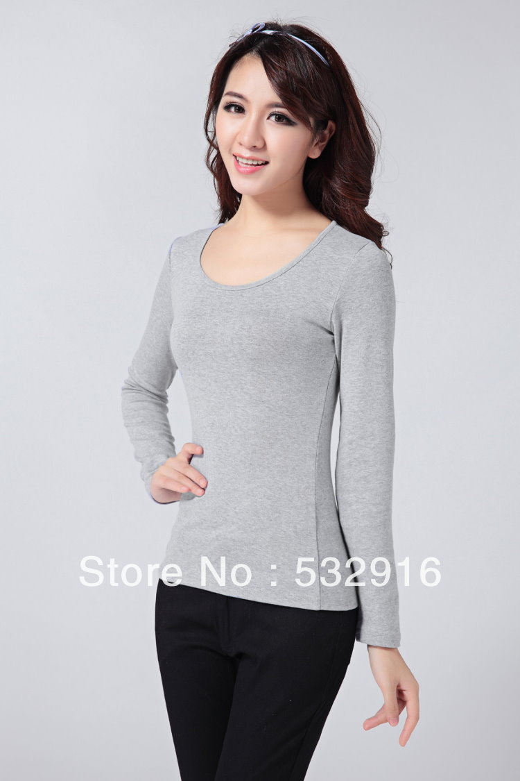 ! Women Tops Slim Long Sleeve Round Neck Stretchy Wool Blends Bottoming Shirt Sweater Spring & Autumn - Marco General Clothing Trading Company store