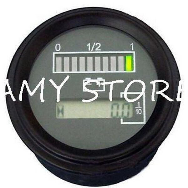 Battery 24 Volt Hour Meter : Buy v hour meter battery gauge indicator curtis t