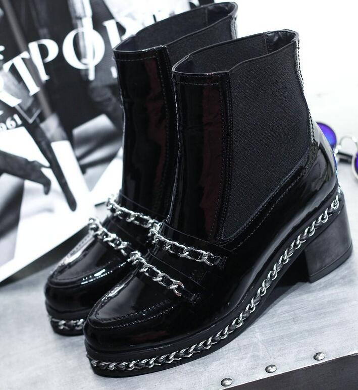 Здесь можно купить  Brand  winter boots fashion leather rivet with low winter boots leather female handsome party with lady warm winter boots  Обувь