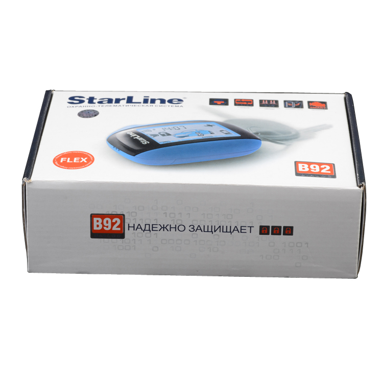 Free shipping Russian version High class two way car alarm system Starline B92 2 way car alarm system for Starline B92(China (Mainland))