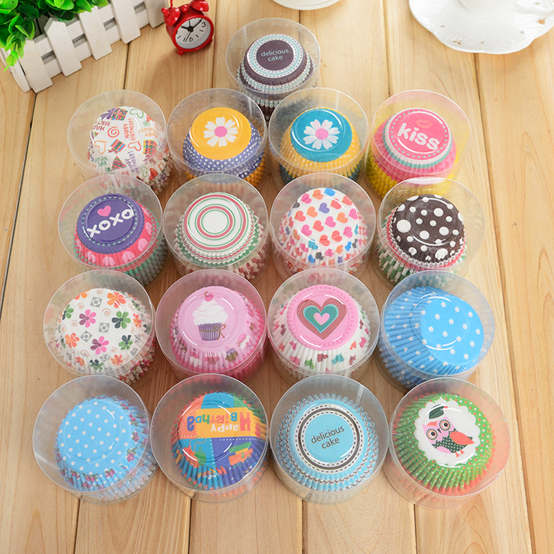 100pcs/set Paper Muffin Baking Cups Mix 4 Color Christmas Wedding Cupcake Liners Mold Cake Decorating Tools Muffin Case Cupcake(China (Mainland))