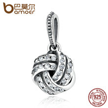 Buy BAMOER 925 Sterling Silver Sparkling Love Knot Weave Bead Charms Fit Bracelets & Bangles Fine Jewelry PAS333 for $10.45 in AliExpress store