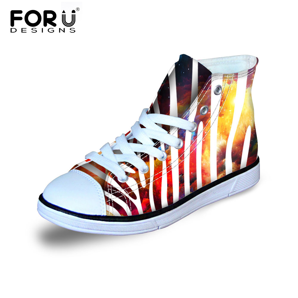 2016 New Fashion Striped Galaxy Canvas Shoes For Children Classic High Top Shoes Girls Boys Sneakers Students Sport Shoes Flats<br><br>Aliexpress