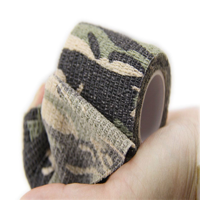 Free Shipping 5cmx4 5m Army Camo Outdoor Sports Hunting Shooting Tool Camouflage Stealth Tape Waterproof Wrap