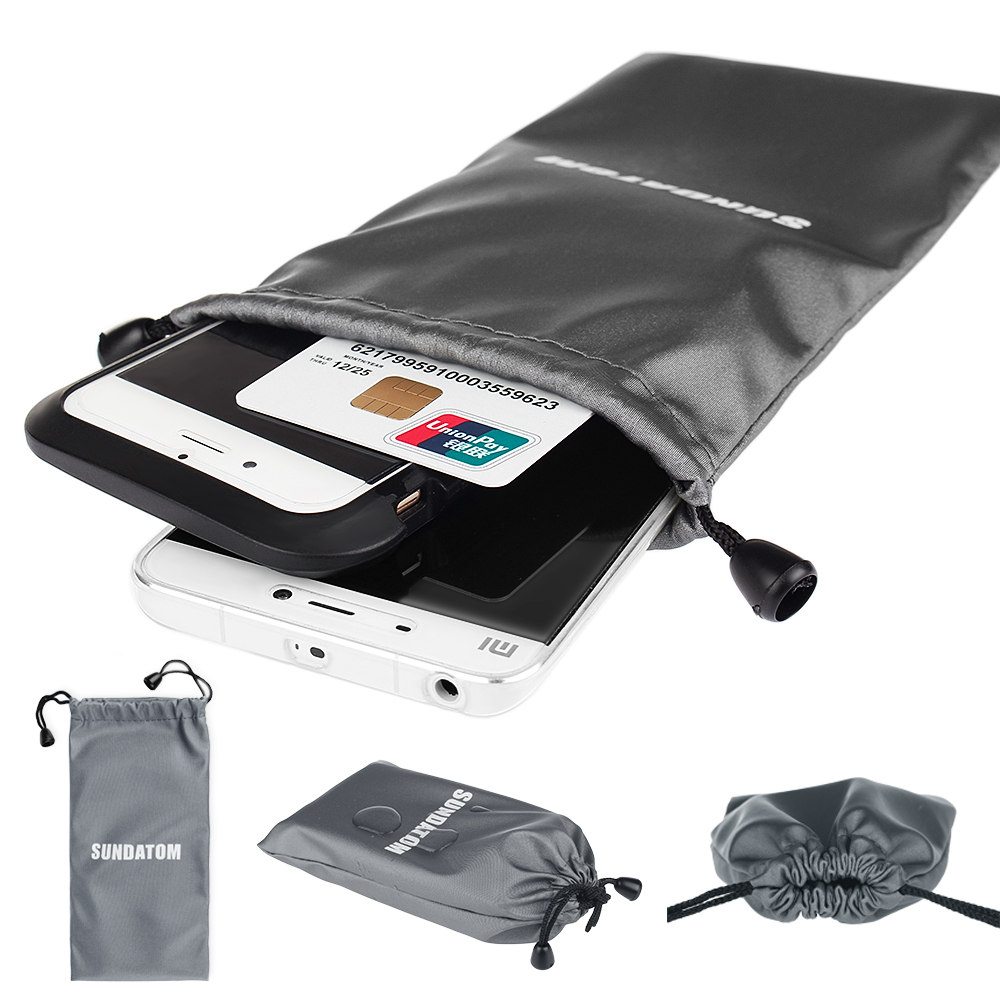 Big Universal Tarpaulin Protective Mobile Phone Bag Waterproof Pouch for Power Bank Smartphone Storage Bag(China (Mainland))