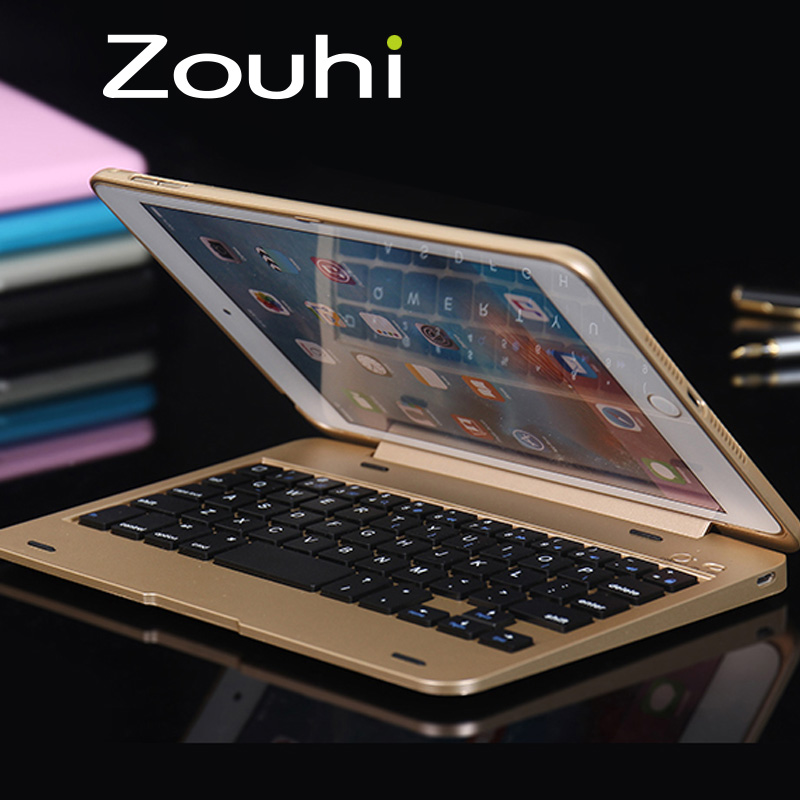 High Quality 1:1 Special Dustproof Bluetooth Wireless Keyboard Foldable Case Stand Cover Holder For iPad Mini 4 Free Shipping(China (Mainland))