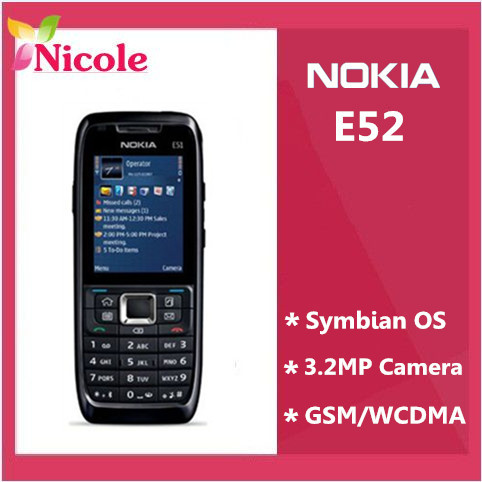 Original Refurbished Nokia E52 Unlocked Phone WIFI GPS JAVA 3G Russian Keyaboard In Stock By SG Post free shipping(China (Mainland))