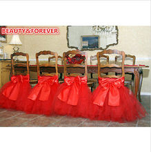 Various Tutu Chair Skirt  Wedding Chair Tutu & Sash Tutu Cover for Wedding Party (China (Mainland))