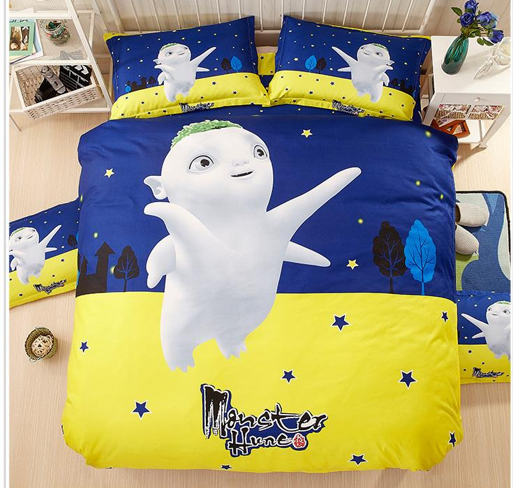 100 cotton bedding set cartoon printing minions