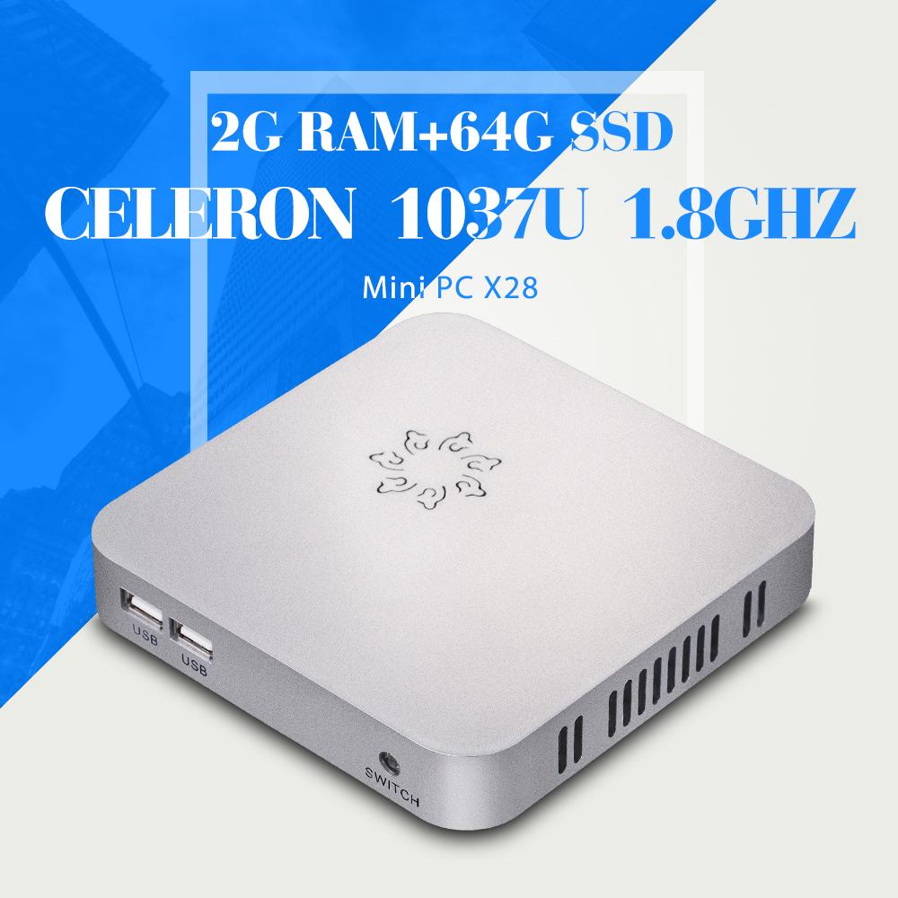 linux mini server network media player linux mini computer X28 c1037u 2g ram 64g ssd with wifi Video Resolution:1920*1080(China (Mainland))