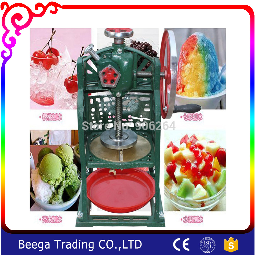 Manual Ice Shaver Hand Ice Chopper Ice Drink Blender Commercial Snow ice machine Home Use Block Shaving Machine(China (Mainland))