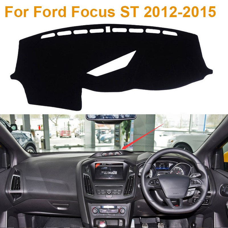 Фотография 2016Car Styling Polyester Dashboard Protective Mat Shade Cushion Photophobic Pad Internal Carpet For Ford Focus ST 2012-2015 RDH