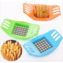 New PVC + Stainless Steel Vegetable Potato Slicer Cutter Chopper Chip Making Tool Potato Cutting Fries Tool Kitchen Accessories