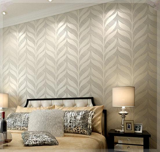 Woven Leaves Wall Decor : Free shipping non woven wallpaper brief modern wall