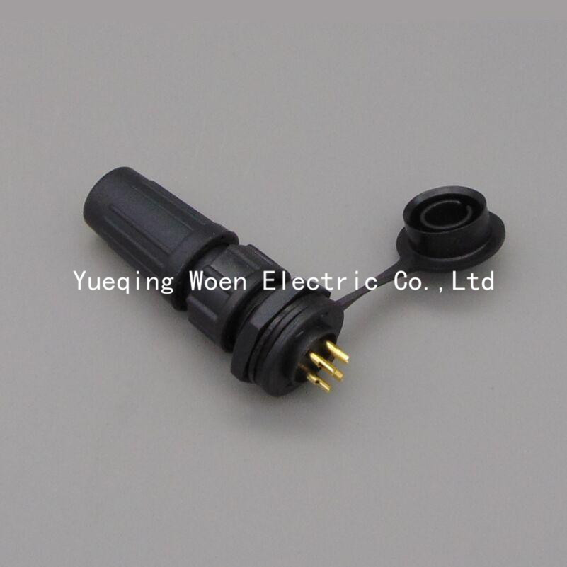 12mm 4pin XLR plug waterproof Aviation Connector IP68, Cable Connector+Rear mount, Plug and socket<br><br>Aliexpress
