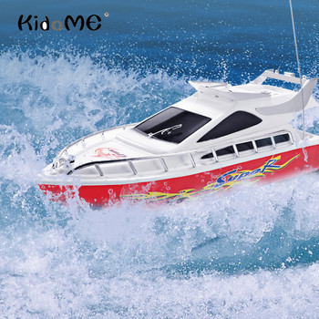 Kidome C101A High Speed RC Boat Mini 35Hz 4 Channels Remote Control Racing Speedboat Boat Kids Toys Children Boys Birthday Gift