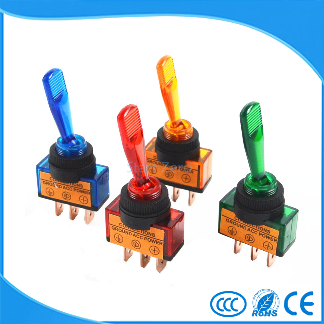 Automotive Toggle Switch 3 Pin ON-OFF with lamp DC 12V 20A(China (Mainland))