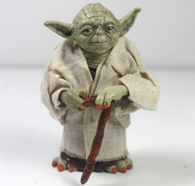 12cm Star Wars Jedi Knight Master Yoda Action Figure Collection toys for christmas gift Free shipping(China (Mainland))