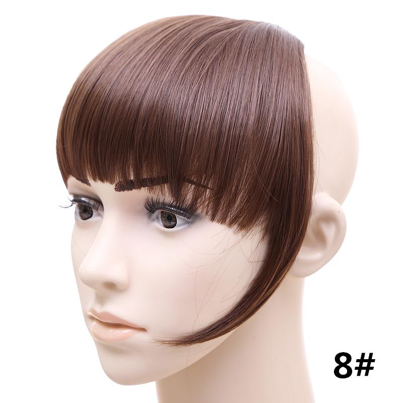 Jeedou короткий передний аккуратный челка клип короткая заколка для волос прямые 8#.2_