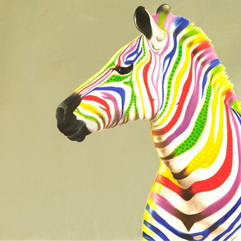 3D Diy Colorful Zebra Diamond Mosaic Painting Animals Home Decoration Diamond Painting Cross Stitch Diamond Embroidery zx(China (Mainland))