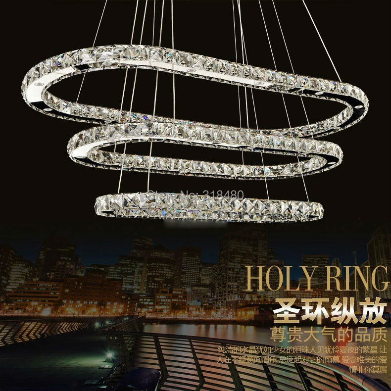 Luxury Foyer Chandeliers : Modern ellipse crystal chandelier simply lamps for