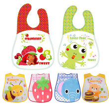 newborn plastic bib eva baby girl boy waterproof lunch bibs cartoon accessoire babador para Infant saliva bandana 0-3Y