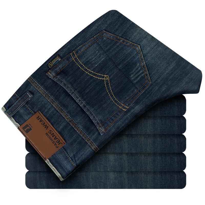 Скидки на Новый 2015 европейский и американский стиль бизнес мужчин джинсы прямые джинсы Большой размер 28-38