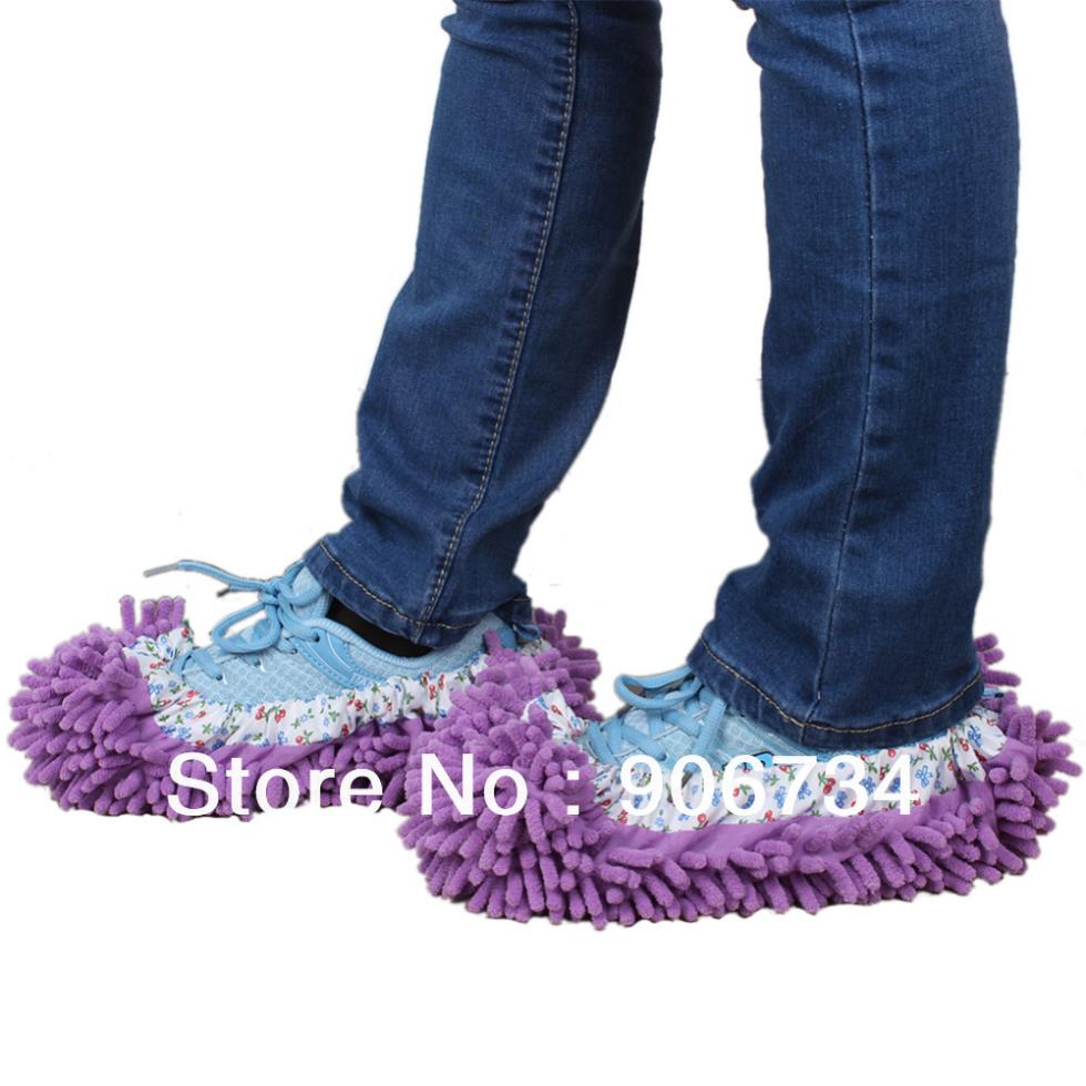 New Arrival Mop Slippers Floor Polishing Cover Cleaner Dusting Cleaning Foot Shoes For Home(China (Mainland))