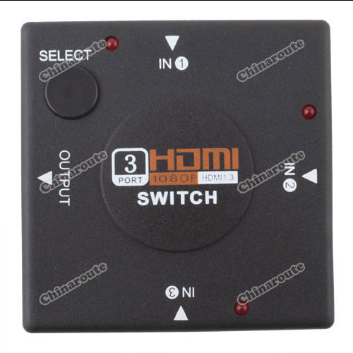 tradekey buying quickly 3 Port HDMI Switch Switcher Splitter for HDTV 1080P PS3 amazing(China (Mainland))