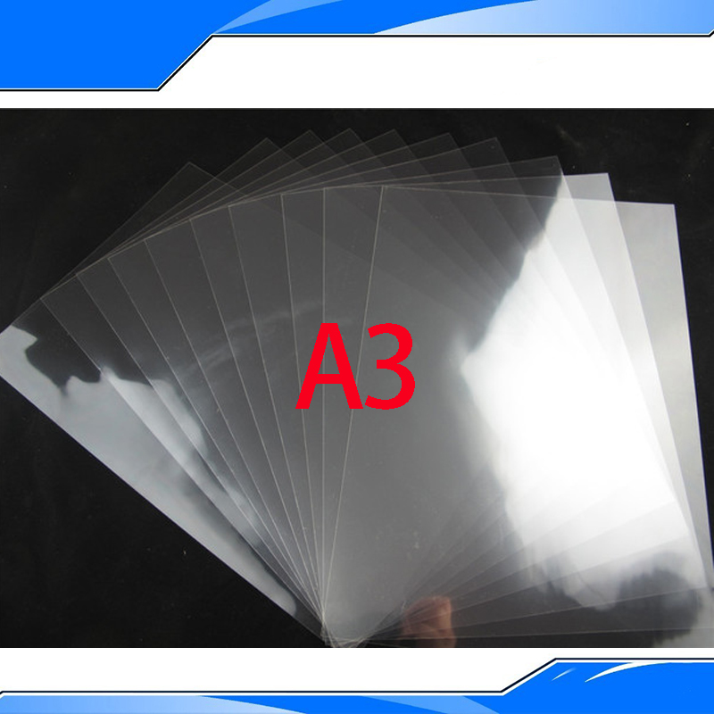 50 Pieces A3 PET Inkjet&Laser Printing Transparency Film Waterproof Transparency Film Screen Printing Transfer Film(China (Mainland))